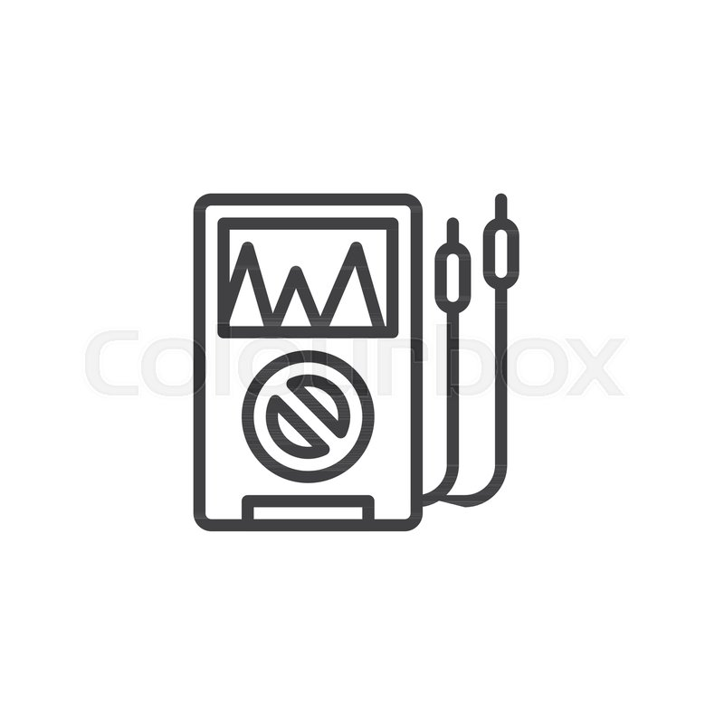 Voltmeter Outline Icon Linear Style Sign For Mobile Concept And Web