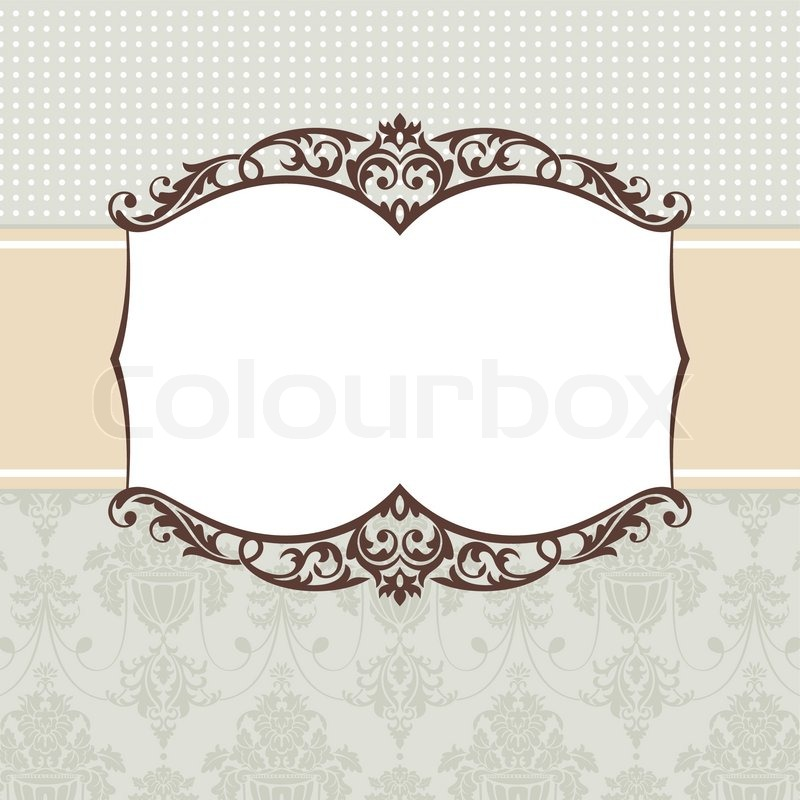 Abstract vintage frame vector illustration | Stock Vector | Colourbox