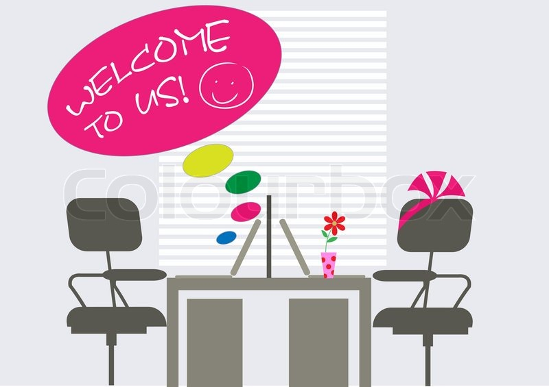 Decorated workplace for new colleague | Vector | Colourbox
