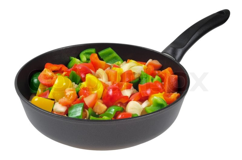 Roasting Pan With The Vegetables Red Stock Photo