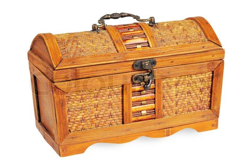 stock image of vintage decorative box with a lock - Decorative Box