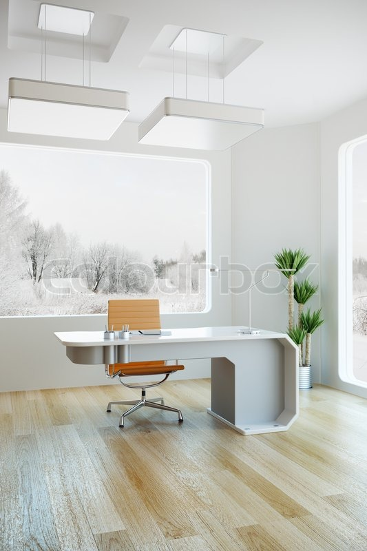 Interior Design Of Modern Office 3d Stock Image Colourbox