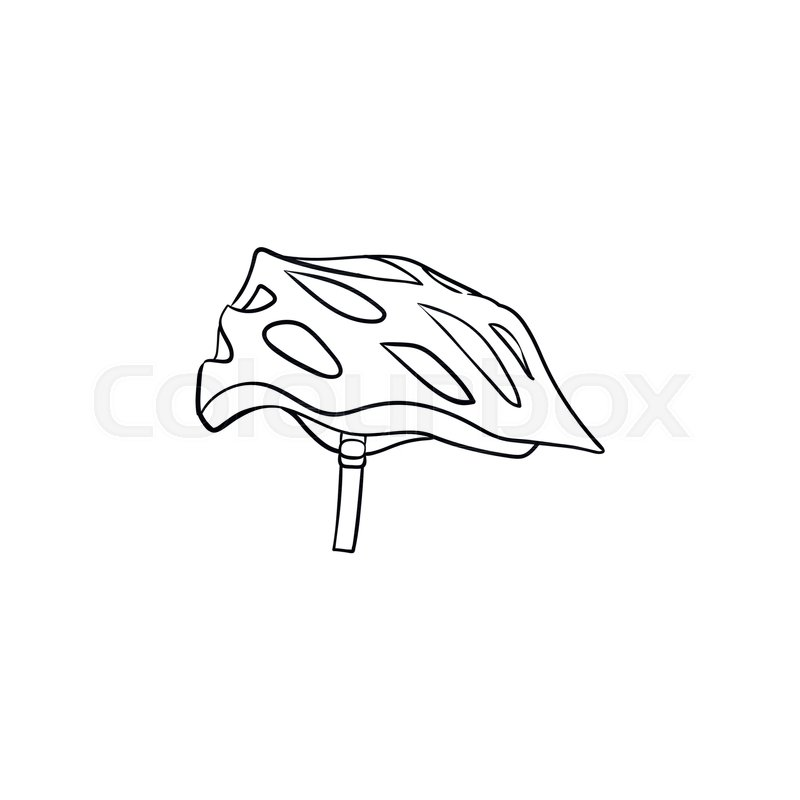 Bicycle Helmet Hand Drawn Outline Doodle Icon Bicycle Equipment