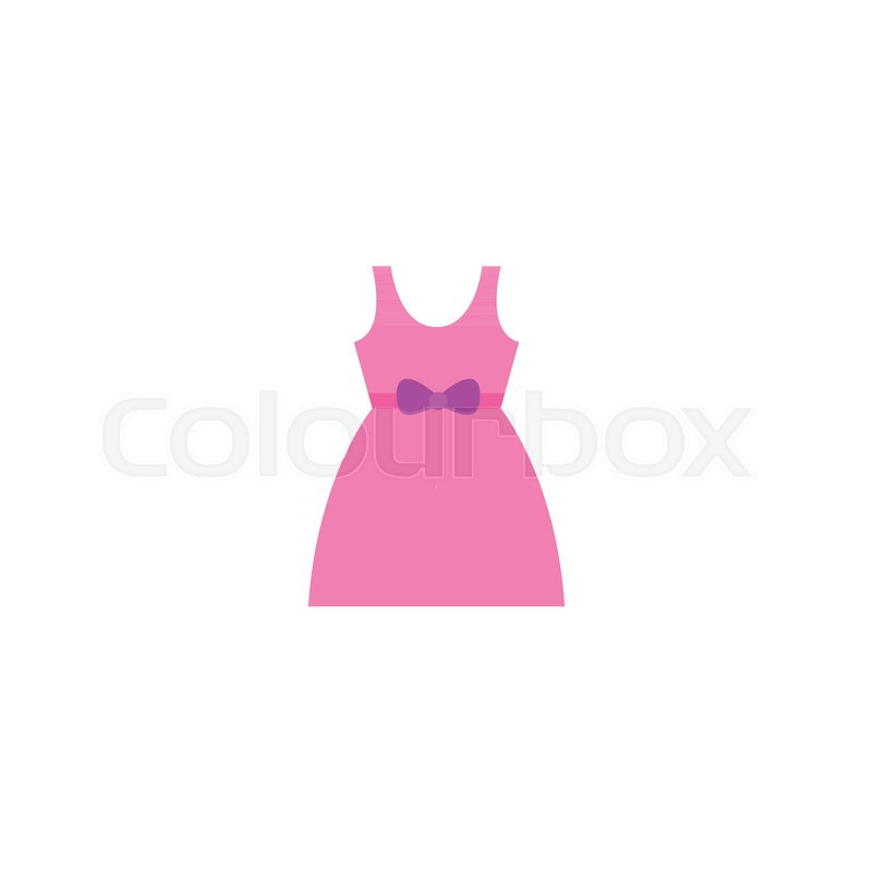 c2a9eed71f1a Baby dress icon flat element. Vector ...
