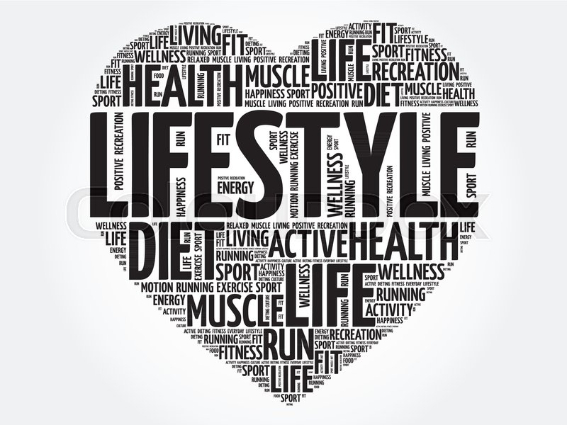 5d45b98b94cf6 LIFESTYLE heart word cloud, fitness, ... | Stock vector | Colourbox