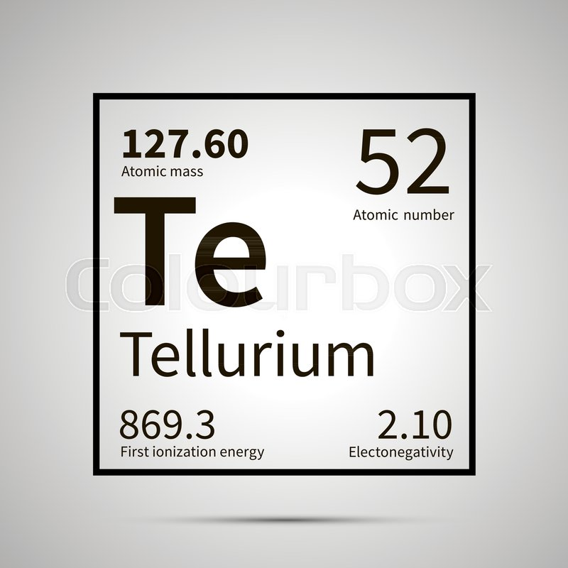 Tellurium Chemical Element With First Ionization Energy Atomic Mass