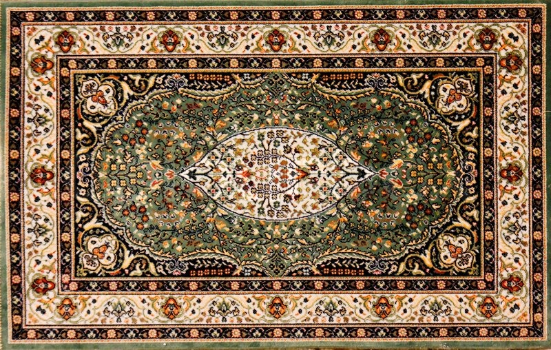 Quot Arabic Rug With Floral Pattern Quot Stock Photo Colourbox
