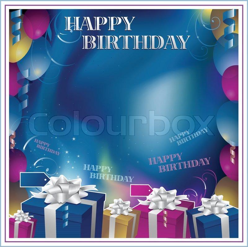Happy Birthday frame background | Stock Vector | Colourbox
