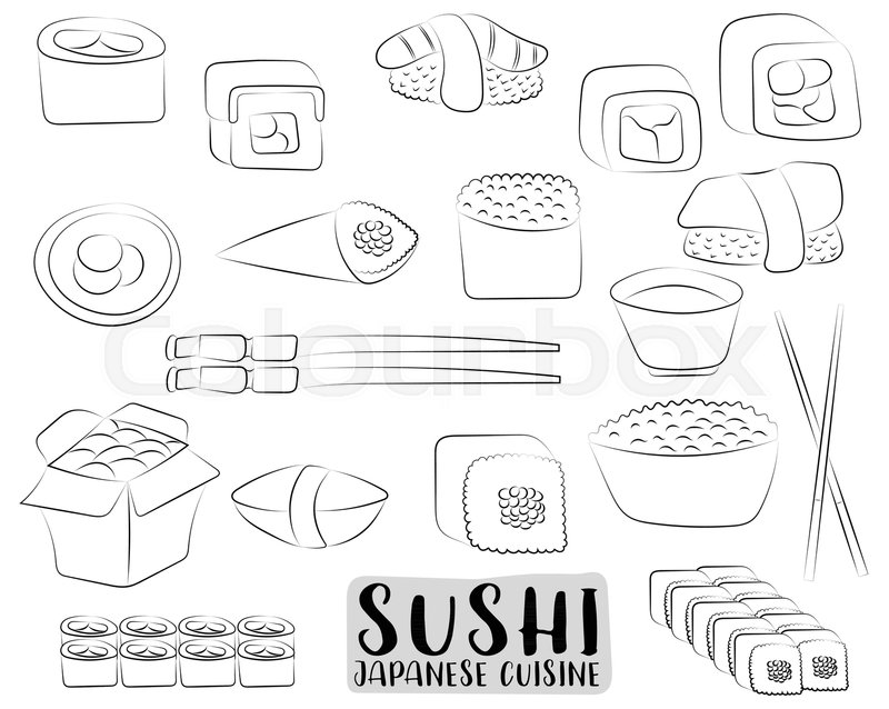 Stock Vector Of Sushi And Rolls Set Japanese Cuisine Concept Asian Restaurant Menu