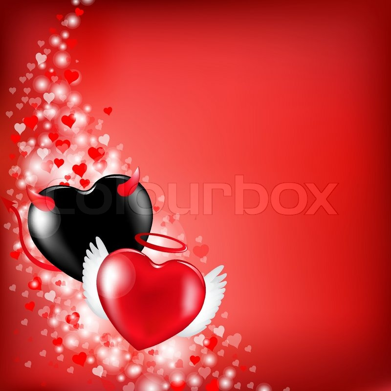 Heart Valentines Background, Vector Illustration, Vector