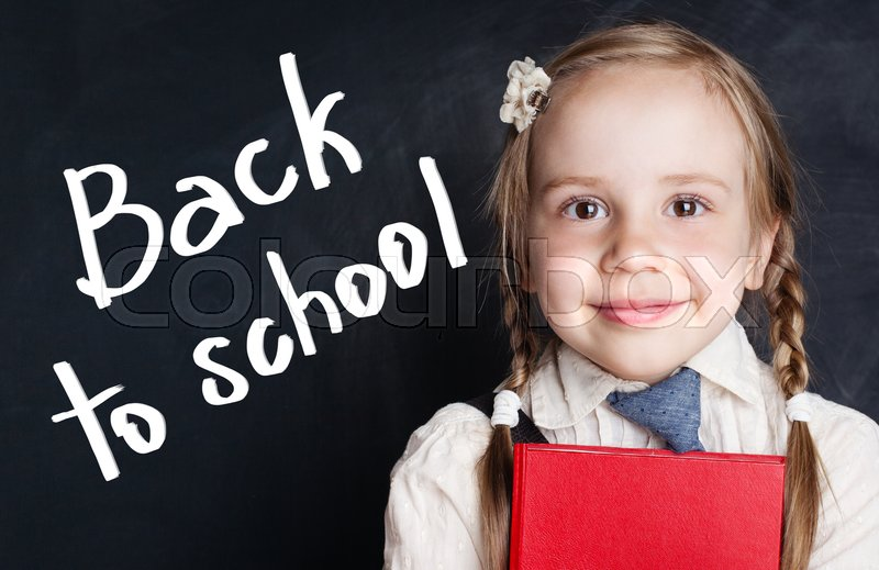 Smiling Little Girl Student Back To Stock Image Colourbox