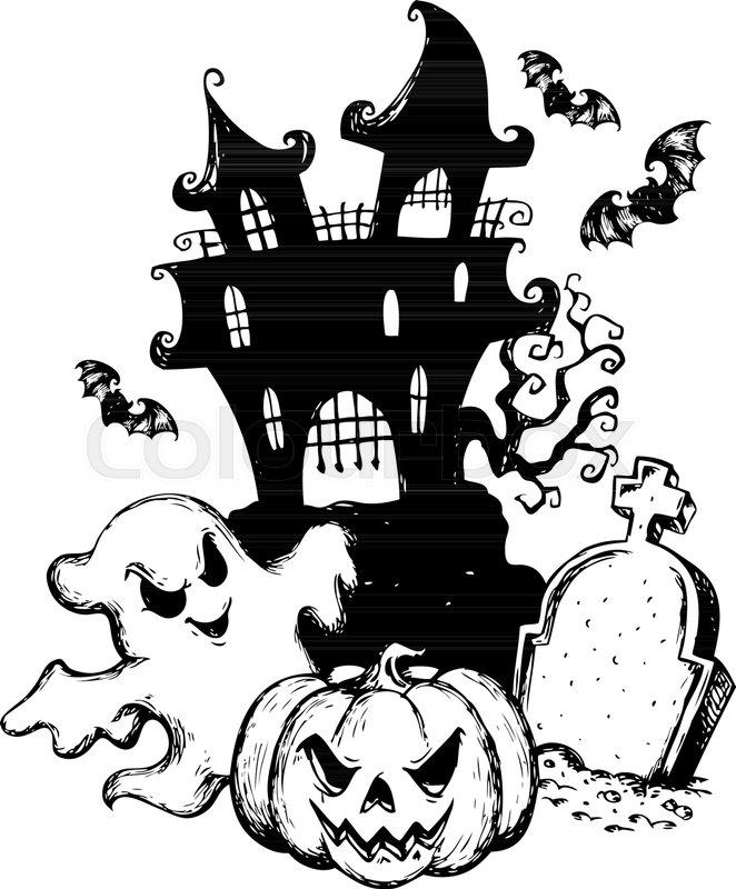 Прикольные рисунки черной ручкой или карандашом на хэллоуин, картинки