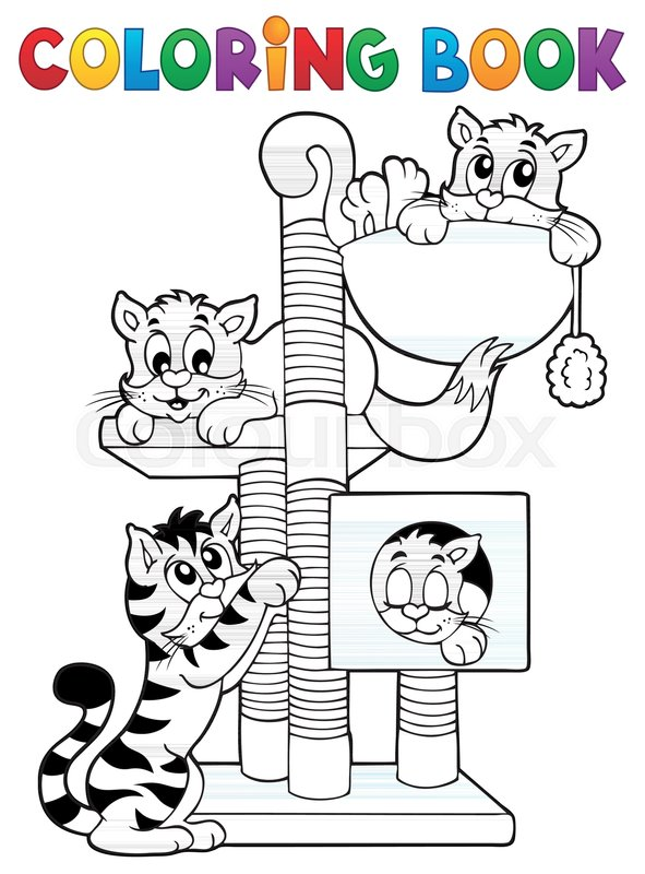 - Coloring Book Cat Theme 1 - Eps10 Stock Vector Colourbox