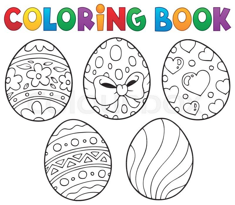 Coloring Book Easter Eggs Theme 1 - Stock Vector Colourbox