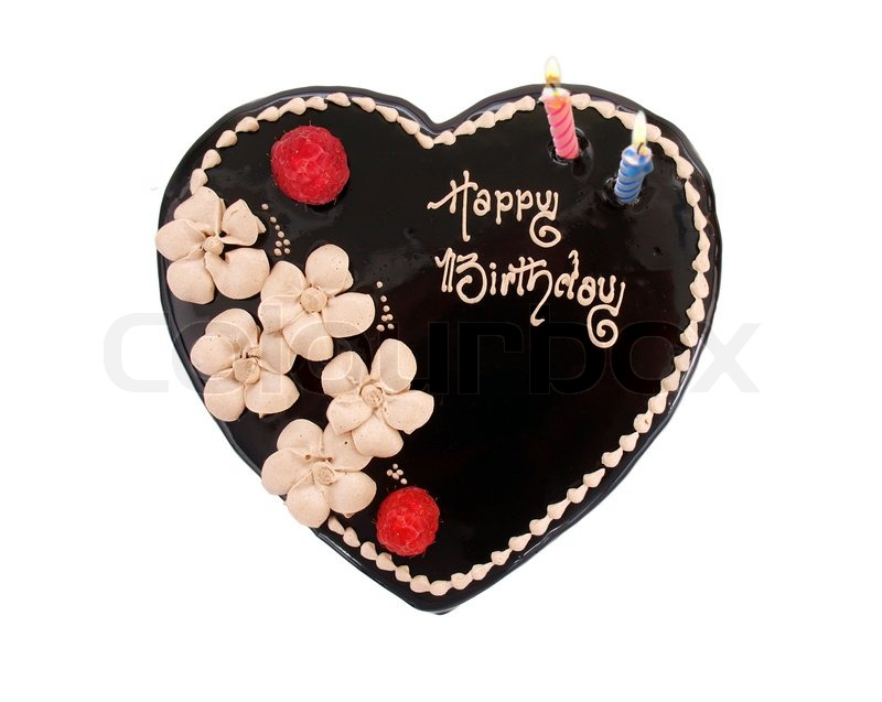 Chocolate Heart Cake Shaped