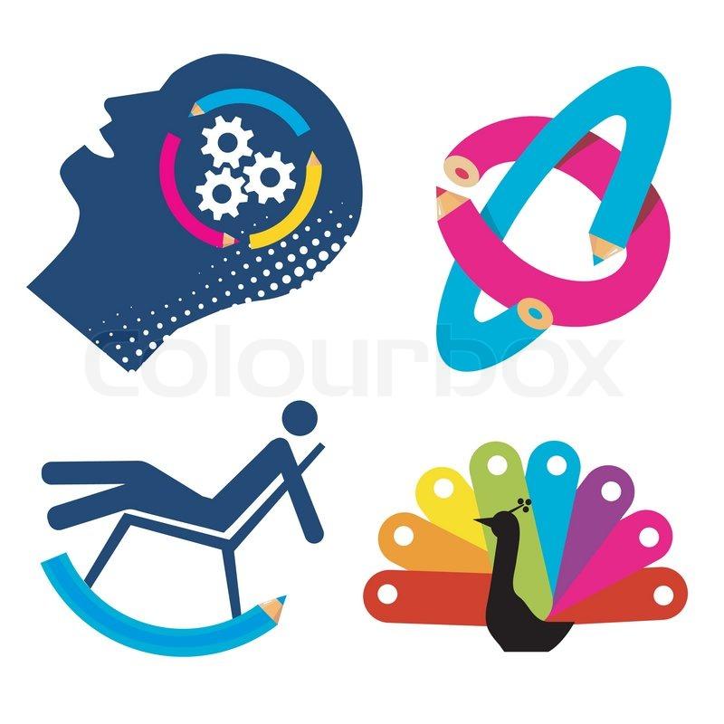 Symbols Of Creativity Stock Vector Colourbox