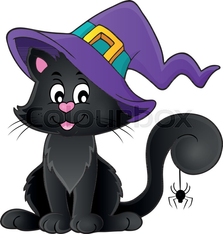 8eb431fe Halloween cat theme image 2 - eps10 ... | Stock vector | Colourbox