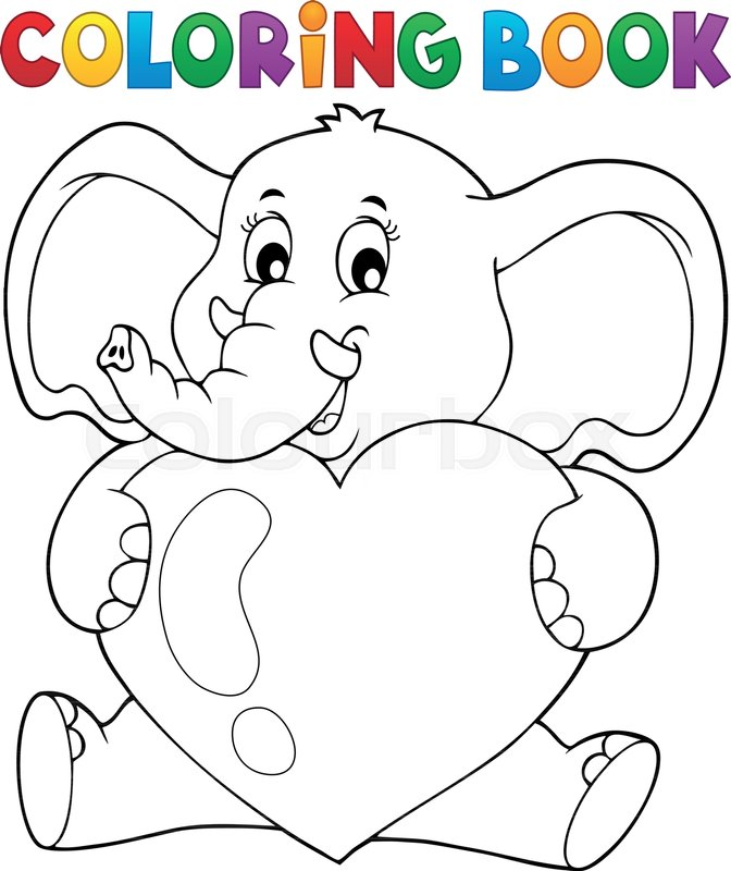 105 Coloring Book Elephant Sitting Best HD