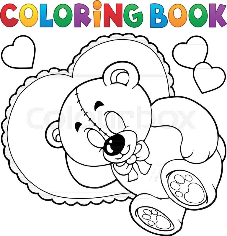 - Coloring Book Teddy Bear Theme 2 - Stock Vector Colourbox