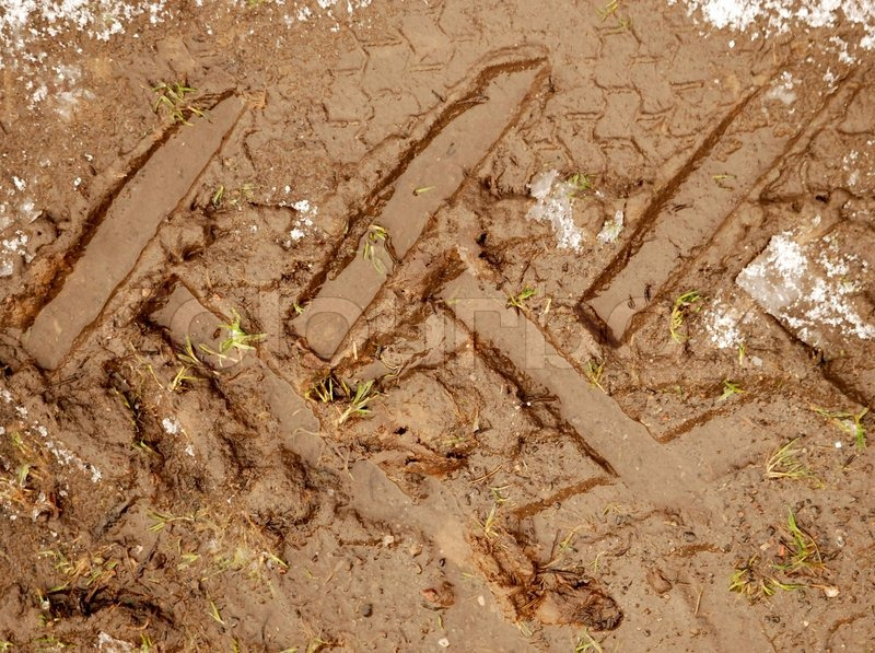 Best Tire Prices >> Deep Tractor Tracks in the Mud | Stock Photo | Colourbox