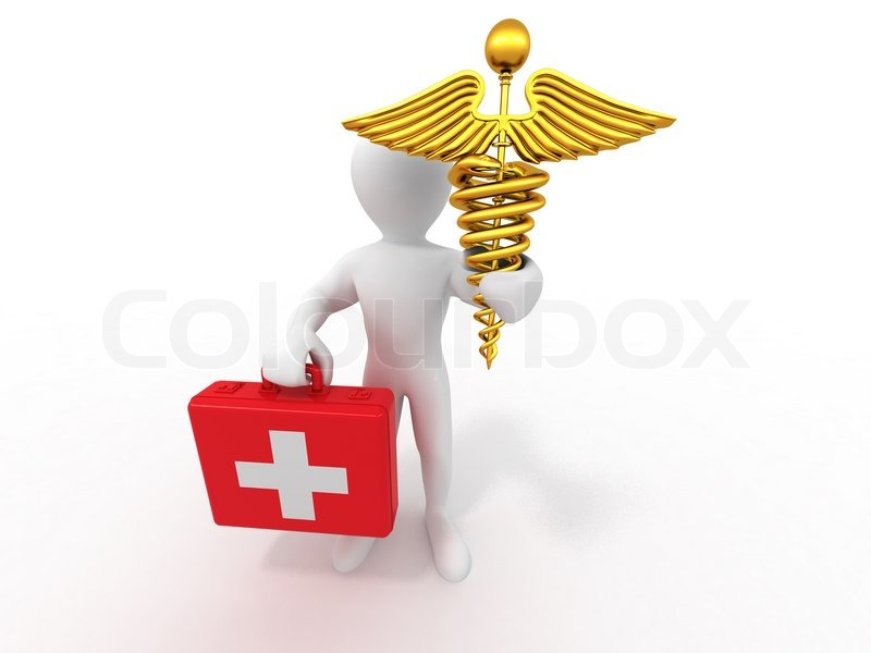 Men With Symbols Of Medicine Stock Photo Colourbox