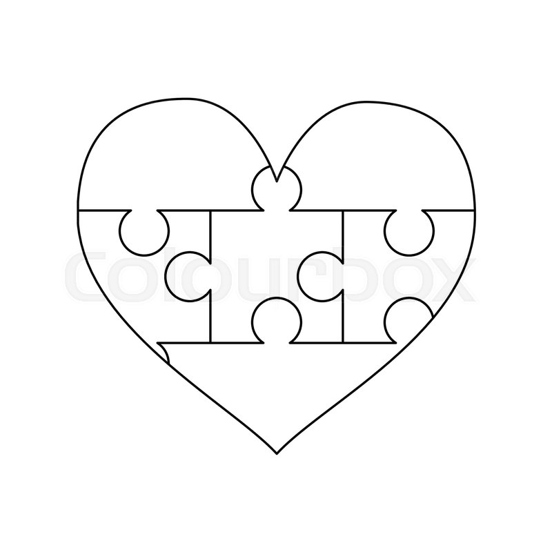 It is a picture of Printable Puzzle Piece Template within outline