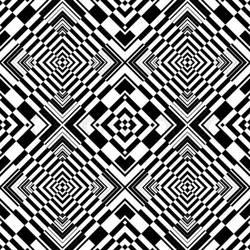 nahtlose op art geometrische muster vektorgrafik colourbox. Black Bedroom Furniture Sets. Home Design Ideas