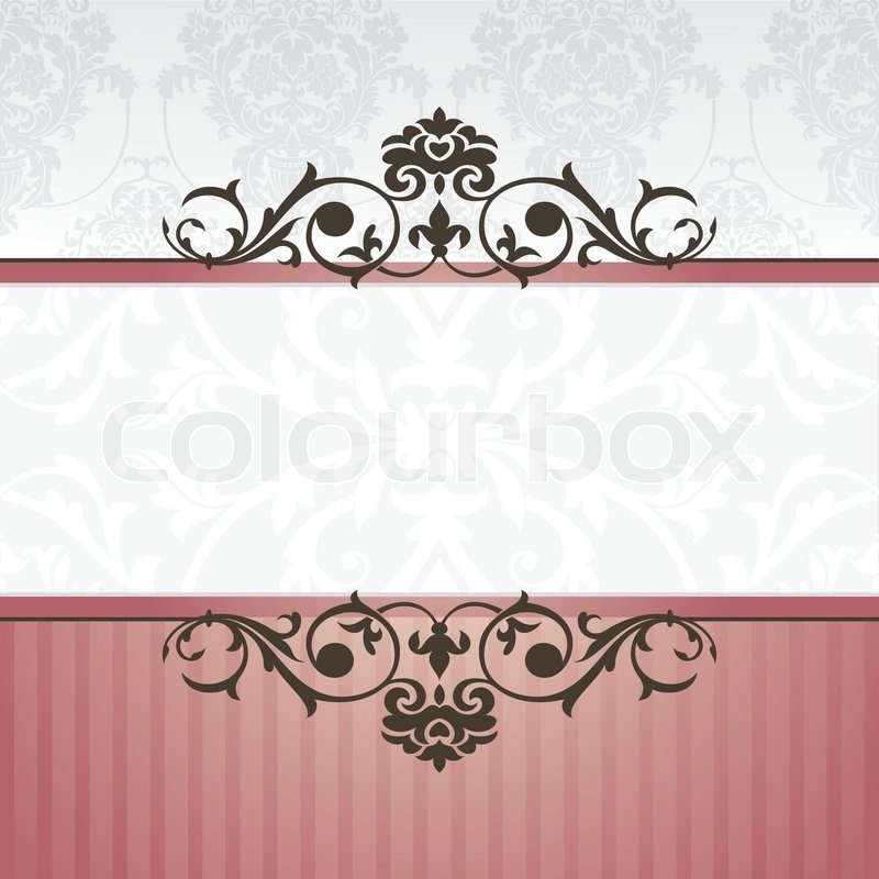 abstract vintage frame vector illustration stock vector