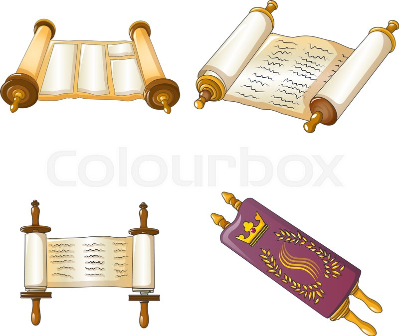 Torah Scroll Book Bible Shavuot Icons ...