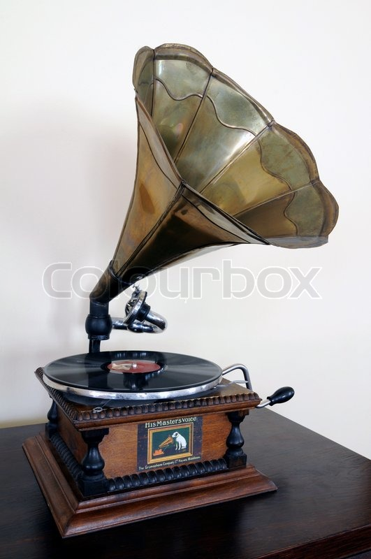 Vintage Gramophone Stock Photo Colourbox