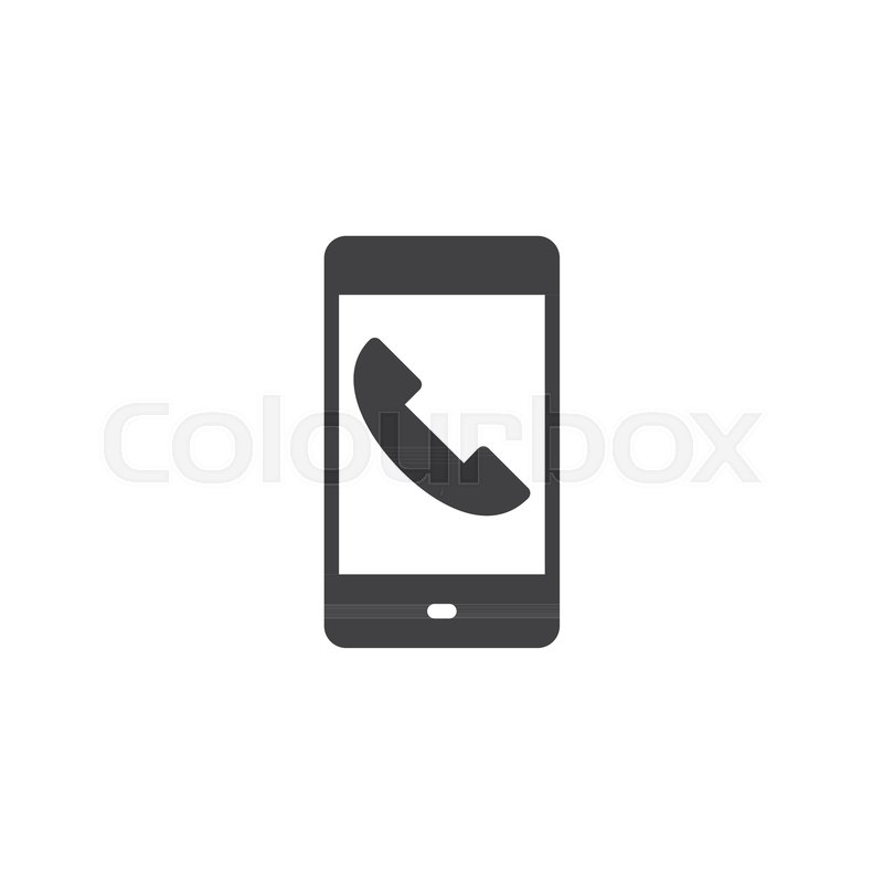 Mobile Phone Call Vector Icon Filled Flat Sign For Mobile Concept
