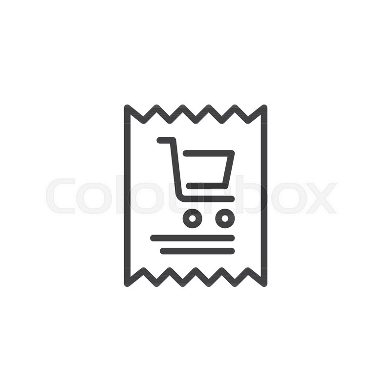 shopping invoice outline icon linear style sign for mobile concept