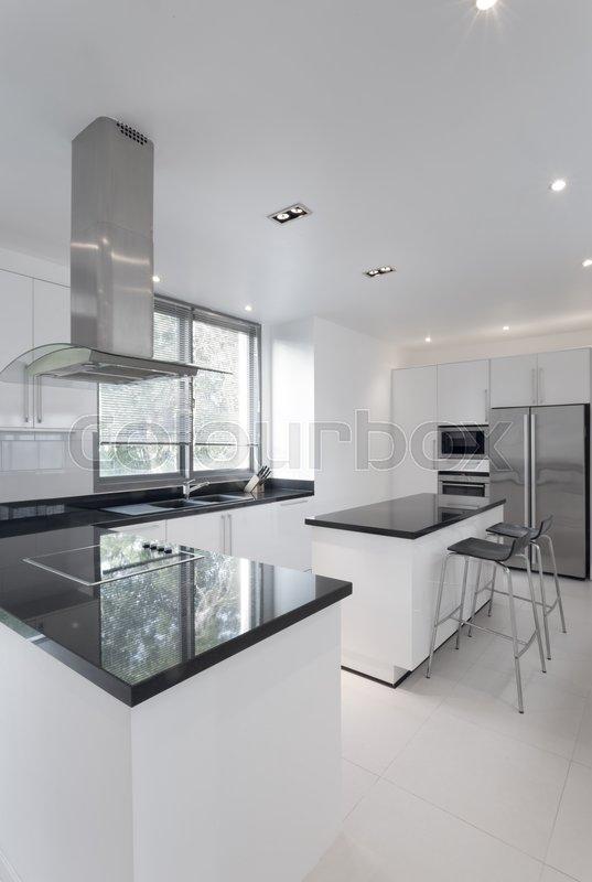 View Of Nice Kitchen Interior Stock Image Colourbox