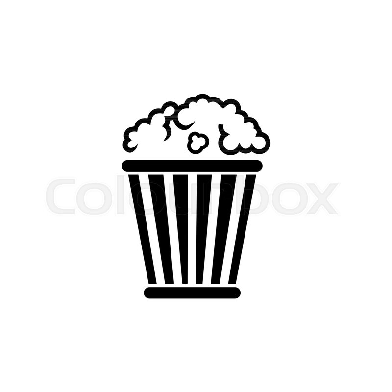 Popcorn bucket pop corn box flat vector icon illustration simple popcorn bucket pop corn box flat vector icon illustration simple black symbol on white background popcorn bucket pop corn box sign design template for maxwellsz