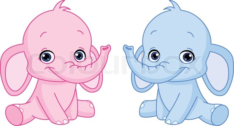 Baby elephants | Stock Vector | Colourbox