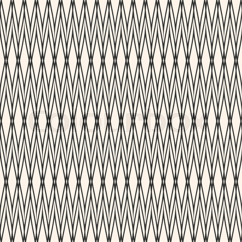 Vector Seamless Pattern With Thin Intersecting Lines Texture Of