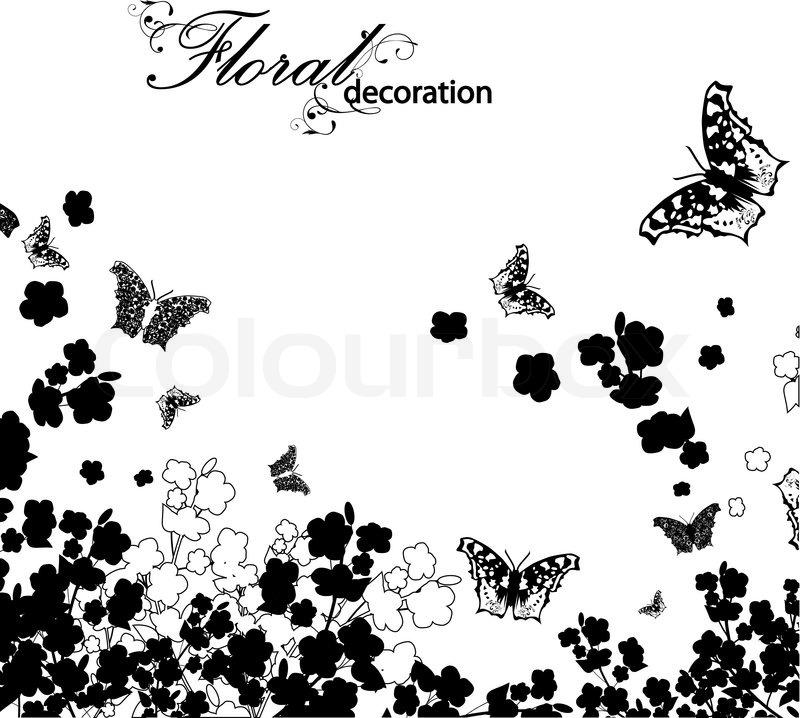 Groß Blumenrahmen Schwarz Und Weiß Bilder - Benutzerdefinierte ...