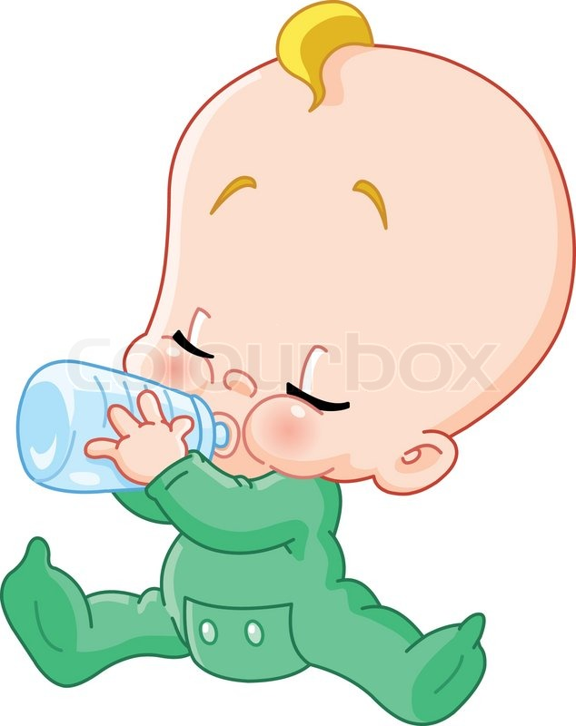 baby drinking bottle | stock vector | colourbox