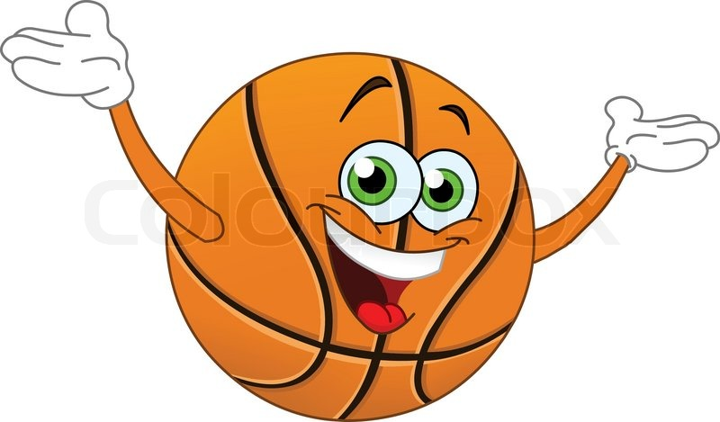 Stock-Vektor von  Cartoon basketball hob die H  228 nde Basketball Cartoon