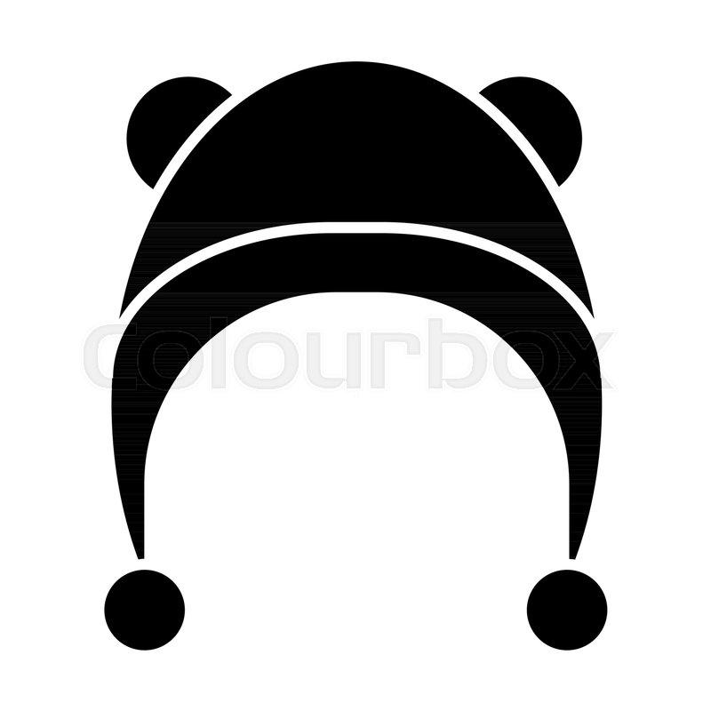 1feb9c5205f Winter hat solid icon. Baby hat vector ...
