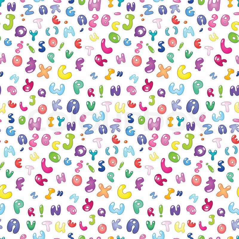 Seamless pattern of the abc bubble letters | Stock Vector ... The Letter D In Bubble Letters