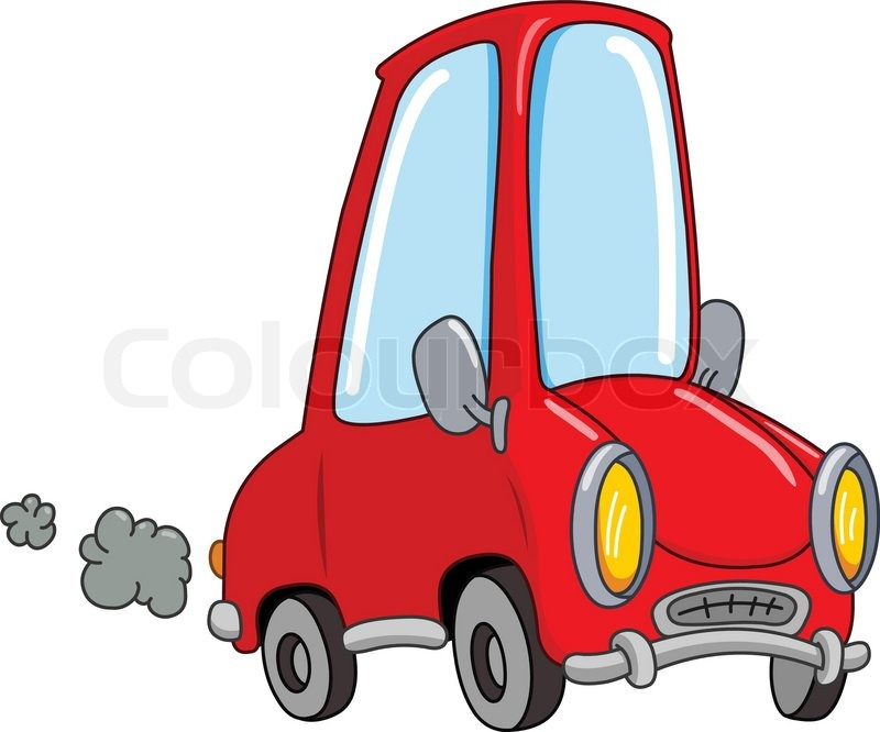 cartoon car stock vector colourbox