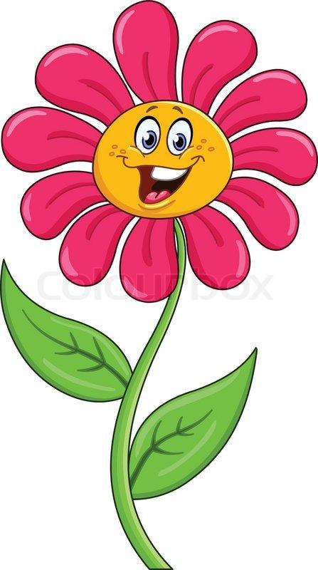 Cartoon Flower Vector Colourbox