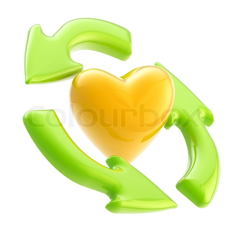 Ecology Friendly Green Glossy Recycle Stock Image Colourbox