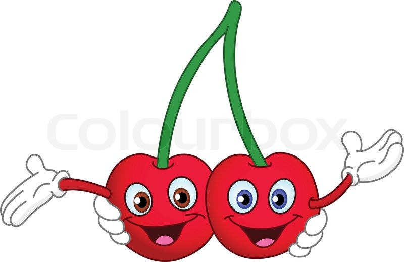 Cartoon cherry twins stock vector colourbox - Dessin cerise ...