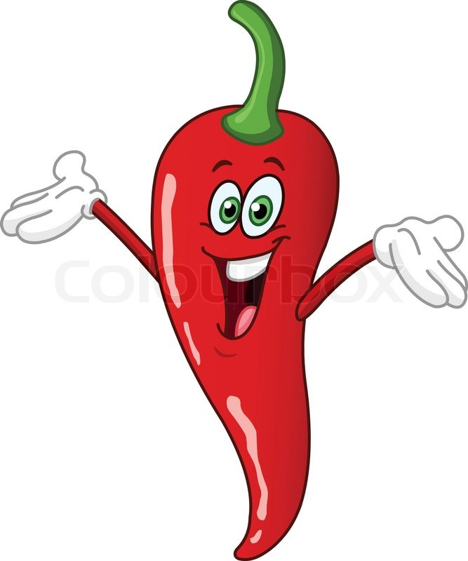 Red hot chili pepper cartoon | Stock Vector | Colourbox