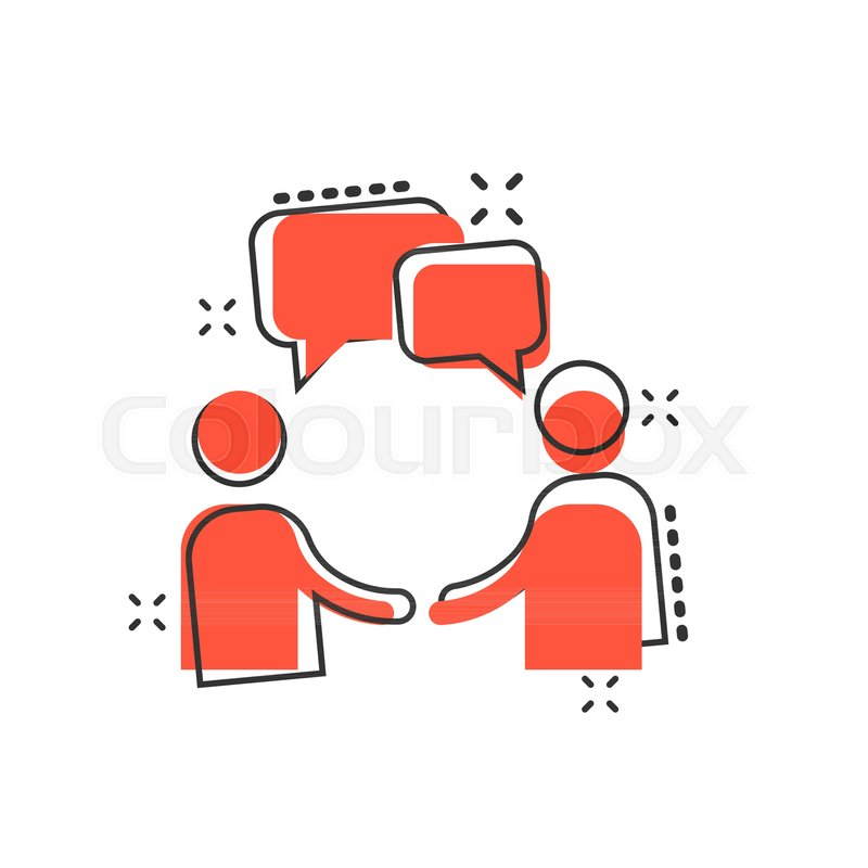 Vector Cartoon Talk People Icon In Stock Vector Colourbox