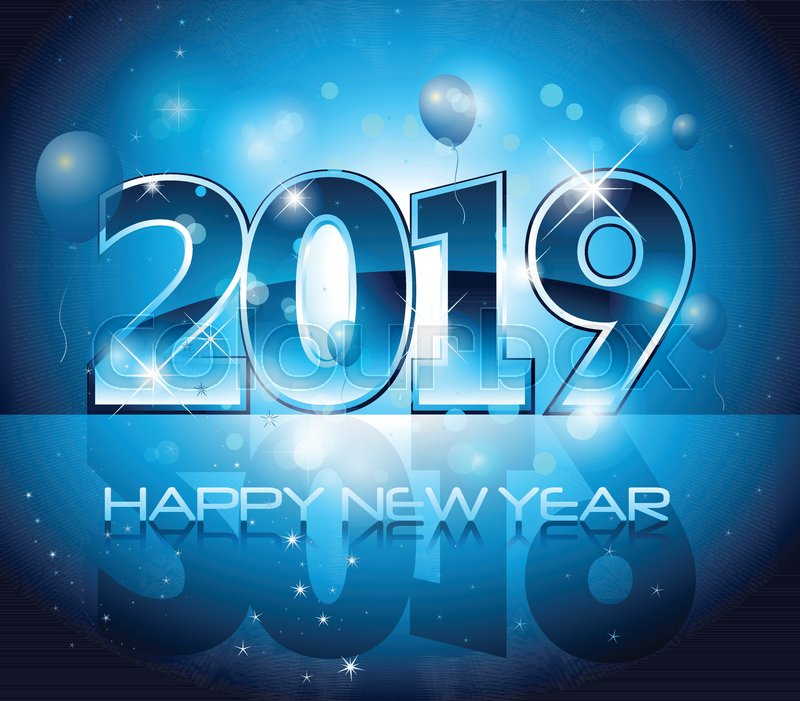 vector 2019 happy new year blue background stock vector colourbox