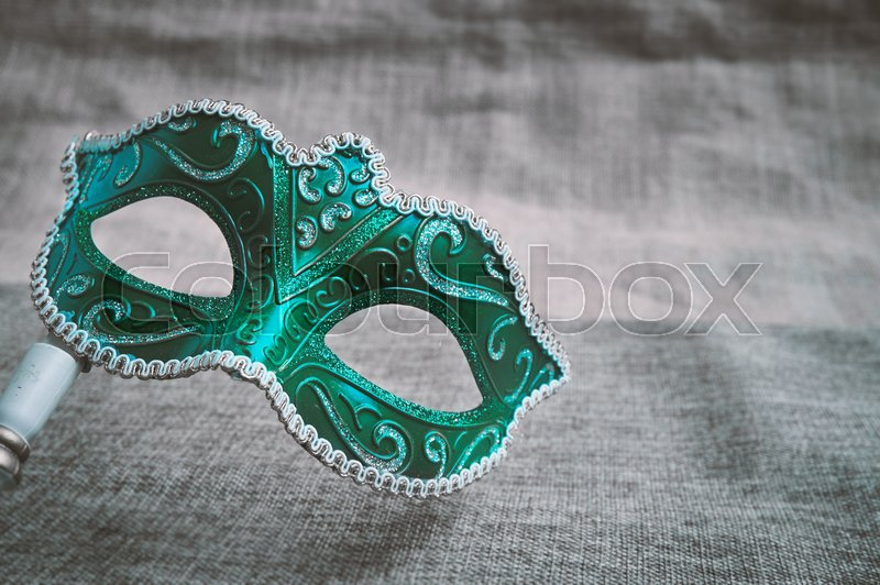 6cd7b2e05fe12 Stock image of 'Closeup green carnival masquerade, Venetian mask (Opera mask)  with