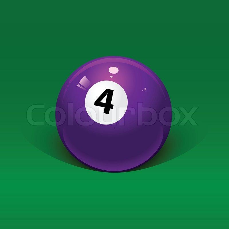 Lavender Ball Vector Number Four Stock On Colourbox Billiard